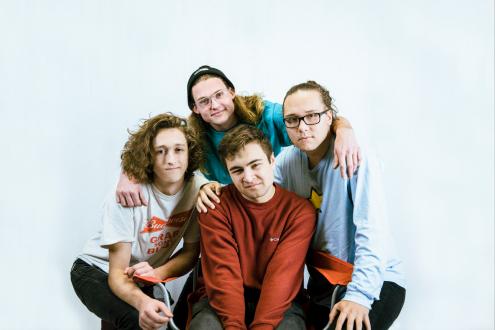 Una foto del gruppo punk americano Dogleg.