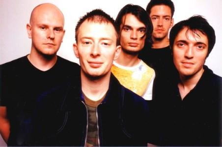 """I Radiohead al tempo della pubblicazione di """"Kid A""""."""